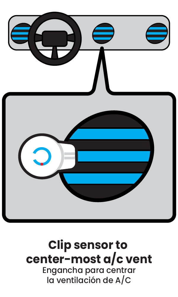 Mister Freeze step 2 clip sensor to a/c vent