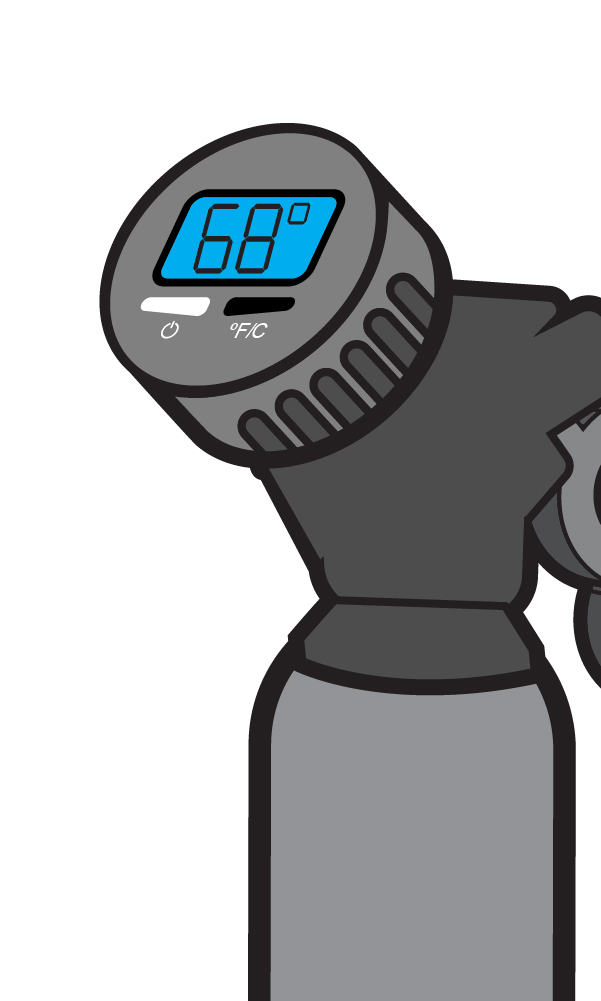 Mister Freeze step 4 check the temperature