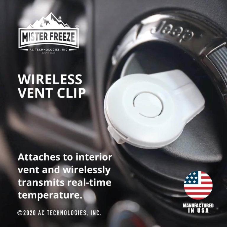 Wirelessventclip